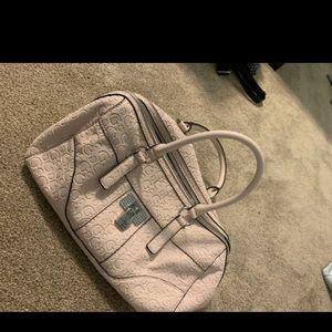 Guess pink handbag with wallet